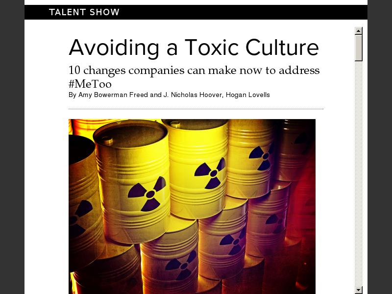 Avoiding a Toxic Culture